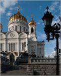 Москва. Храм Христа Спасителя. Медальоны еще из полимеров, позже был заменены на бронзовые.