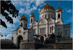 Москва. Храм Христа Спасителя. Медальоны еще из полимеров, позже их заменили на бронзовые.