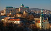 Будапешт. Королевский дворец на Замковой горе и церковь (первоначально сербская) святой Екатерины