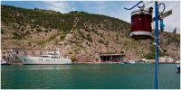 Крым. Балаклава. Бухта. Портал бывшей подземной базы подводных лодок Черноморского флота