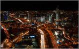 Тель-Авив. Ночной вид с круглой башни Азриэли.  (Такая развязка в городе, где населения всего 450 тыс)