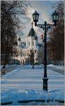 Москва. Собор архангела Михаила. Вид из сквера Девичьего поля