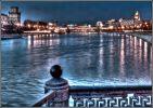 Москва. Мост Хмельницкого ночью