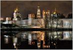 Москва. Новодевичий монастырь. Последний лёд на пруду
