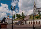 Витебск. Успенский собор справа, Ольгинская церковь слева. Лев