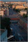 Москва. Новорязанская улица и Южный проезд.  Вдали Елоховский собор