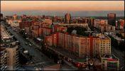 Новосибирск. Вокзальная магистраль на закате