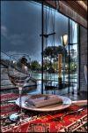 Баку. Вечер. Дождь. Венеция. Бокал.