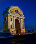 Иркутск. Московские ворота (триумфальная арка) зимой