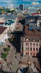 Казань. Вид с колокольни на улицы Баумана и Петербургскую
