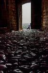 Мостовая в башне в крепости Розафа. Албания