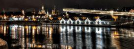 Москва. Праздничная ночь с видом на Кремль