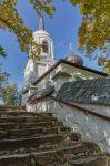 Пушкинские горы. Лестница ведет к могиле Пушкина