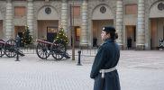 Стокгольм. Караульный у королевского дворца