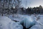 Судогда. Природный фонтан зимой.